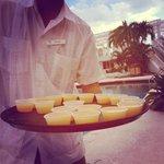 Free Mango daiquiri shots