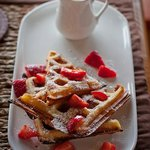 Belgian Waffles - just one of our many delicious breakfasts