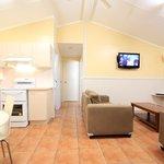 Classic Family Villa living & kitchen area