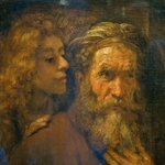 Rembrandt : Saint Matthew and the angel