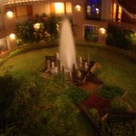 fountain at the rear of hotel