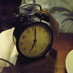 Alarm clock showing time of table reservation!