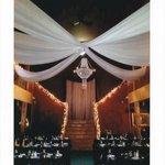 Setup for wedding