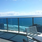 Large ocean facing balcony