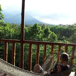 View from Toucan cabin our first afternoon.