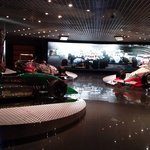 a lot of racing cars