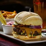 The County Burger, available at the Barley Room Pub