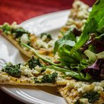 Nate's Flatbread Pizza, available at the Barley Room Pub