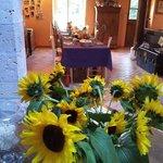 salle des petits déjeuners dans maison des propriétaires