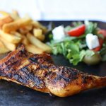 Quarter Chicken with Fries and Greek Salad
