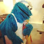 Baking cookies with Cookie Monster!!!