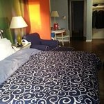 My room at the Hotel Indigo--so comfortable!