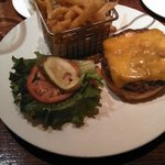 Burger and fries - great