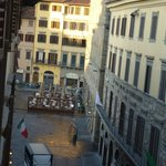 early morning view of Piazza della Signoria from exec. 2-bdrm apt.