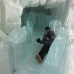 the ice slide... very fast!