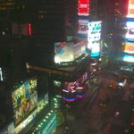 View of Times Square from room.