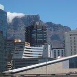 Ausblick von Balkon Richtung Tafelberg