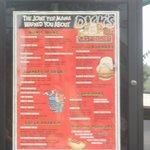 the outdoor displayed menu