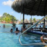Swim-up bar and activity pool