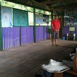 Gilberto teaching vistors about the Island