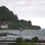 Vista del hotel desde el lago Llanquihue