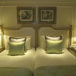 Twin beds, extremely comfortable beds.