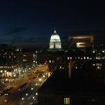 Madison & the Capital at night - 12th floor