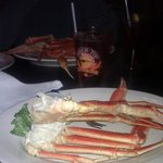 king crab legs at Blue Fins Bistro