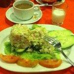 Stuffed avocado appetizer with crab & shrimp