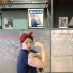 My wife, posing as Rosie the Riveter