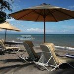 The Lovina beach