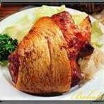 Schweinshaxe mit Sauerkraut und Kartoffelpürre