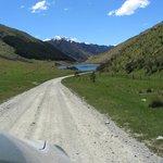 The road into Lake Moke