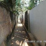 Narrow lane towards Hotel
