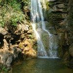Waterfall above the lake