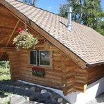 Back of the log cabin