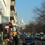 Sacre Coeur, view from the Road near Hotel