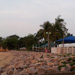 From the beach, looking back to the Darwin Trailer Boat Club