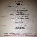 west menu