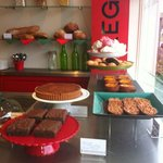 Beautiful cakes served all day