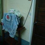 Bedroom - TV, towels, hotel-flip flops