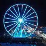 skywheel at nite. right next door to hotel