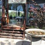 Open area dining overlooks the vinyard.