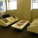 Guest lounge with free internet and printer