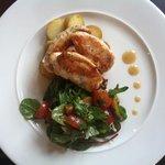 Chicken dish at The Carlton Manoir