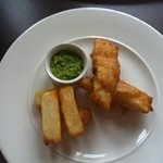 Kiddies portion of Haddock and Chips