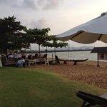пляж и ресторан