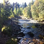 Beautiful River only 1 min walk away