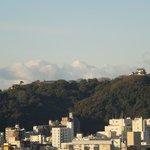 松山城の眺めが良く