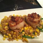 petite plate of scallops at Sweet Melissa's